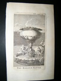 Religious C1750 Antique Print. The Brazen Laver